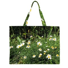 Wild Daisy summer Flowers Large Tote Bag