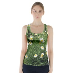Wild Daisy summer Flowers Racer Back Sports Top