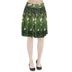 Wild Daisy Summer Flowers Pleated Skirt