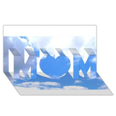 Summer Clouds And Blue Sky Mom 3d Greeting Card (8x4)