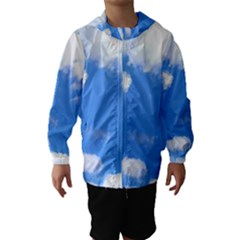 Summer Clouds And Blue Sky Hooded Wind Breaker (kids)