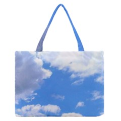 Summer Clouds And Blue Sky Medium Zipper Tote Bag