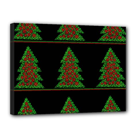 Christmas trees pattern Canvas 16  x 12