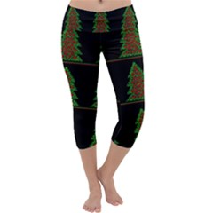 Christmas trees pattern Capri Yoga Leggings