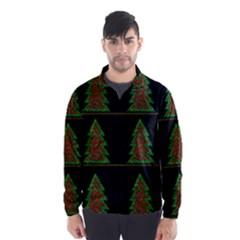 Christmas trees pattern Wind Breaker (Men)