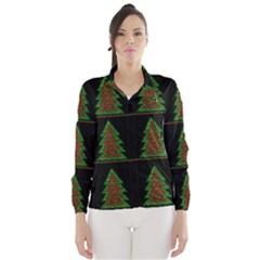 Christmas trees pattern Wind Breaker (Women)