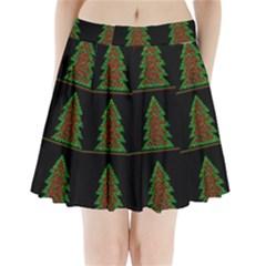 Christmas Trees Pattern Pleated Mini Skirt