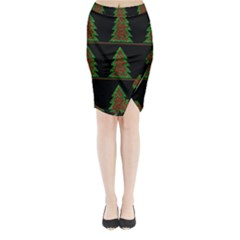 Christmas trees pattern Midi Wrap Pencil Skirt