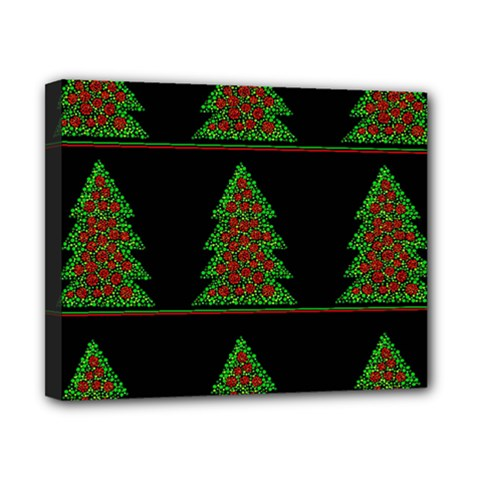 Christmas trees pattern Canvas 10  x 8