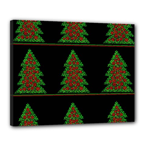 Christmas trees pattern Canvas 20  x 16