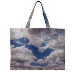 Breezy Clouds In The Sky Zipper Mini Tote Bag