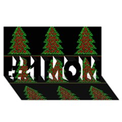 Christmas trees pattern #1 MOM 3D Greeting Cards (8x4)