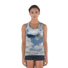 Breezy Clouds In The Sky Women s Sport Tank Top