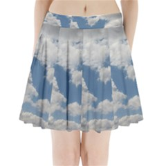 Breezy Clouds in the sky Pleated Mini Skirt