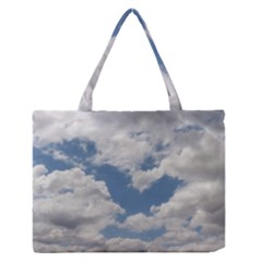 Breezy Clouds in the sky Medium Zipper Tote Bag
