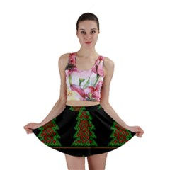 Christmas trees pattern Mini Skirt