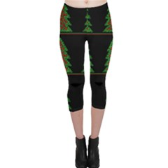 Christmas trees pattern Capri Leggings