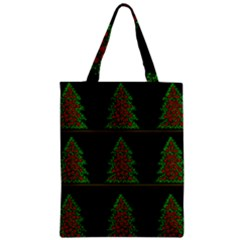 Christmas trees pattern Zipper Classic Tote Bag