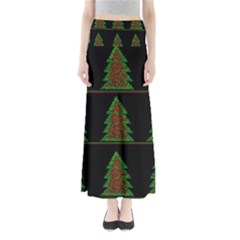 Christmas trees pattern Maxi Skirts