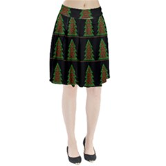 Christmas trees pattern Pleated Skirt