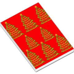 Christmas trees red pattern Large Memo Pads