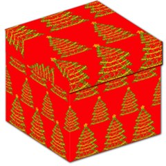 Christmas trees red pattern Storage Stool 12