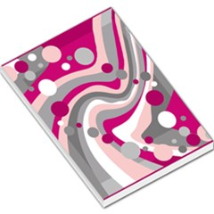 Magenta, pink and gray design Large Memo Pads