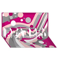Magenta, pink and gray design BEST BRO 3D Greeting Card (8x4)