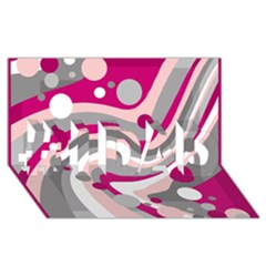 Magenta, pink and gray design #1 DAD 3D Greeting Card (8x4)