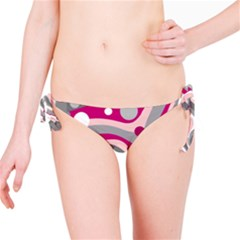 Magenta, pink and gray design Bikini Bottom