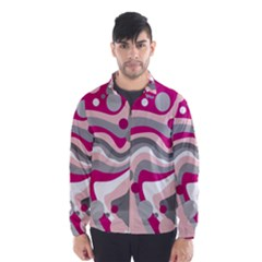 Magenta, pink and gray design Wind Breaker (Men)