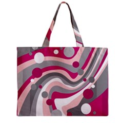Magenta, pink and gray design Medium Zipper Tote Bag