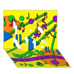 Music LOVE 3D Greeting Card (7x5)