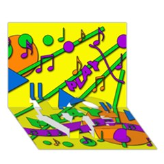 Music LOVE Bottom 3D Greeting Card (7x5)