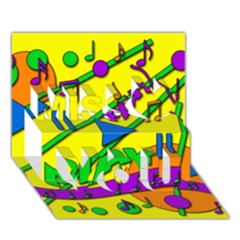 Music Miss You 3d Greeting Card (7x5)