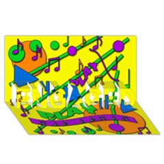 Music ENGAGED 3D Greeting Card (8x4)
