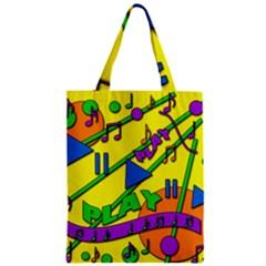 Music Zipper Classic Tote Bag