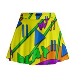 Music Mini Flare Skirt