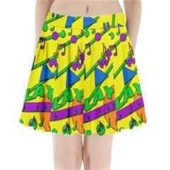 Music Pleated Mini Skirt
