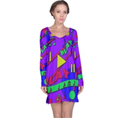 Music 2 Long Sleeve Nightdress