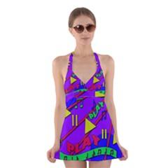 Music 2 Halter Swimsuit Dress