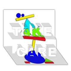 Balance  TAKE CARE 3D Greeting Card (7x5)