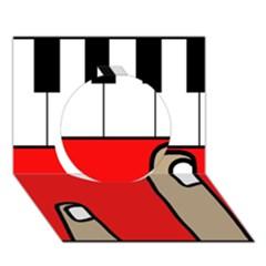 Piano  Circle 3D Greeting Card (7x5)
