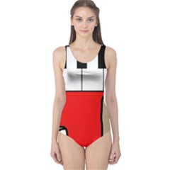Piano  One Piece Swimsuit