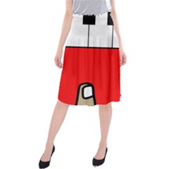 Piano  Midi Beach Skirt