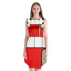 Piano  Sleeveless Chiffon Dress