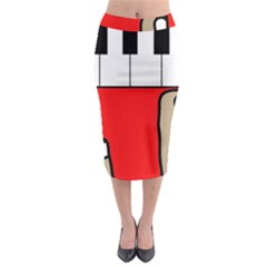 Piano  Midi Pencil Skirt