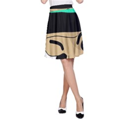 Accident  A-Line Skirt