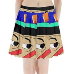 Accident  Pleated Mini Skirt