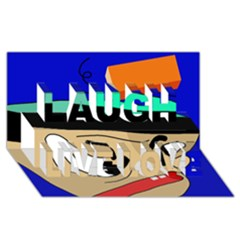 Accident  Laugh Live Love 3D Greeting Card (8x4)